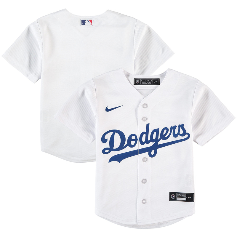 2020 MLB Preschool Los Angeles Dodgers Nike White Home 2020 Replica Team Jersey 1