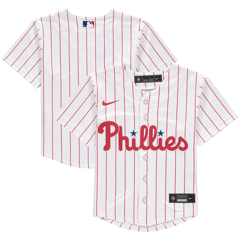 2020 MLB Preschool Philadelphia Phillies Nike White Home 2020 Replica Team Jersey 1