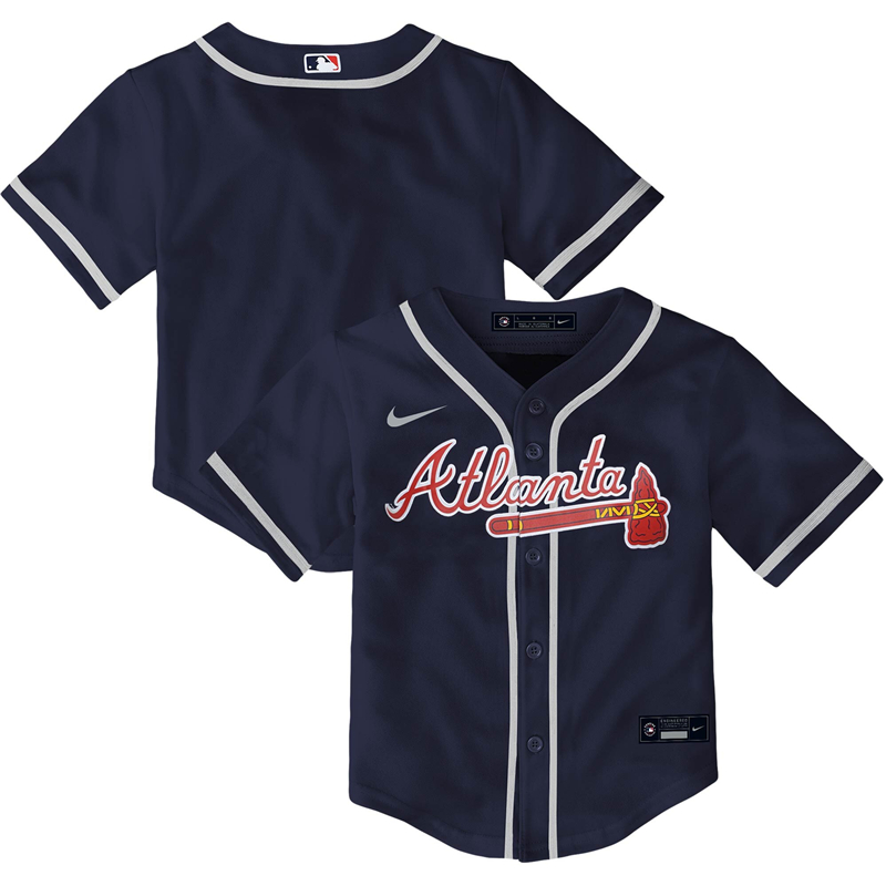 2020 MLB Toddler Atlanta Braves Nike Navy Alternate 2020 Replica Team Jersey 1
