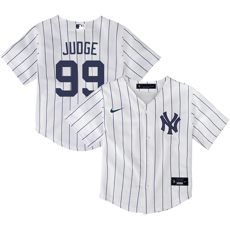 2020 MLB Toddler New York Yankees 99 Aaron Judge Nike White Home 2020 Replica Player Name Jersey 1