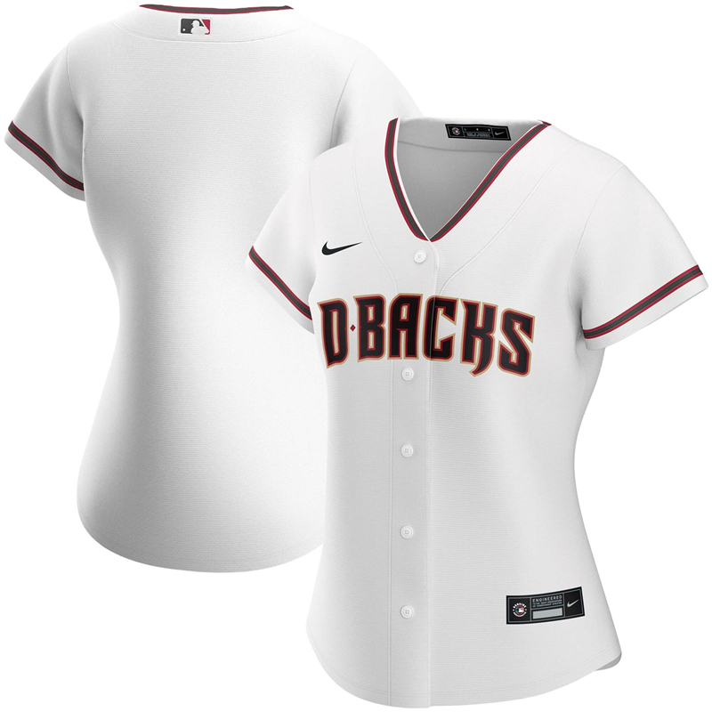 2020 MLB Women Arizona Diamondbacks Nike White Home 2020 Replica Team Jersey 1