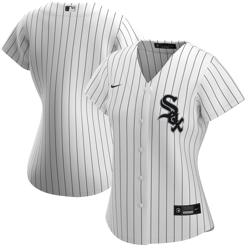 2020 MLB Women Chicago White Sox Nike White Home 2020 Replica Team Jersey 1