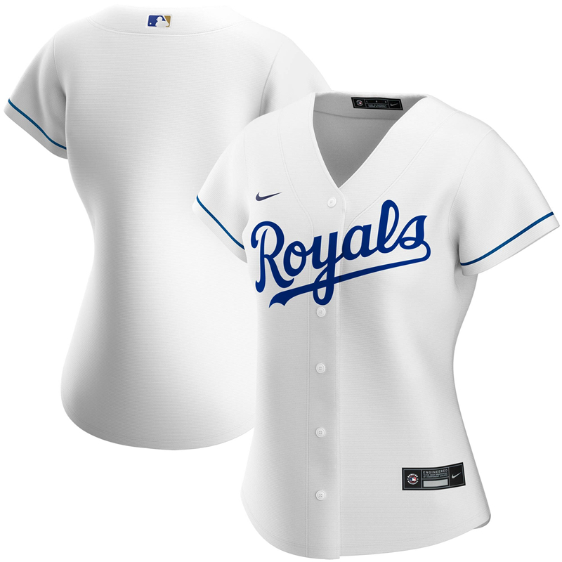 2020 MLB Women Kansas City Royals Nike White Home 2020 Replica Team Jersey 1