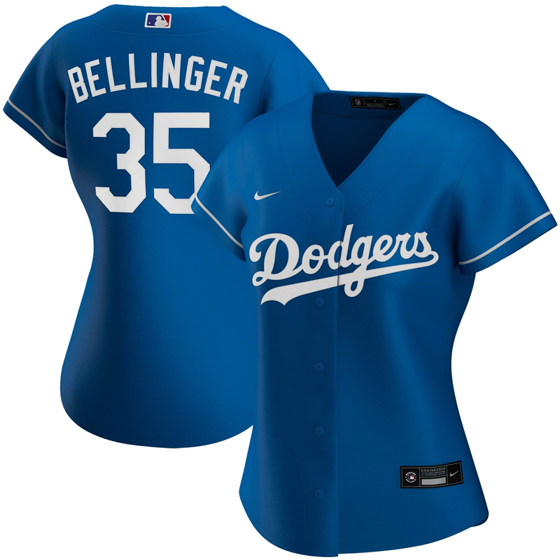2020 MLB Women Los Angeles Dodgers Cody Bellinger Nike Royal Alternate 2020 Replica Player Jersey 1