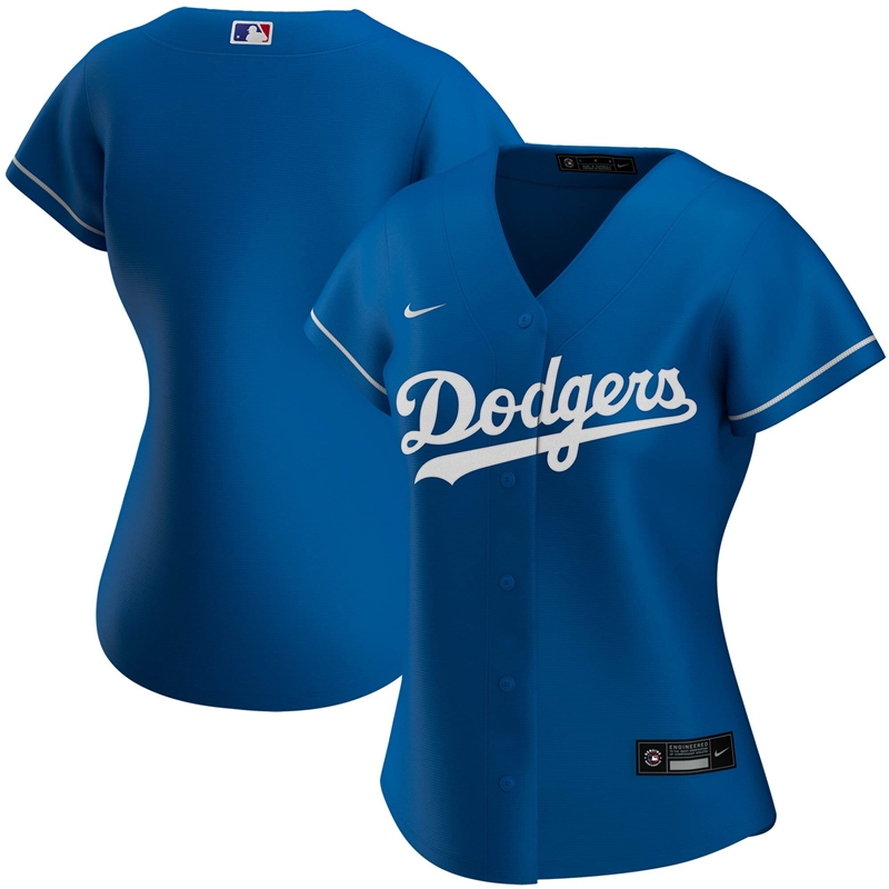 2020 MLB Women Los Angeles Dodgers Nike Royal Alternate 2020 Replica Team Jersey 1