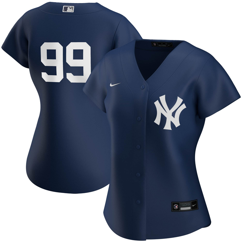 2020 MLB Women New York Yankees 99 Aaron Judge Nike Navy 2020 Spring Training Home Replica Player Jersey 1