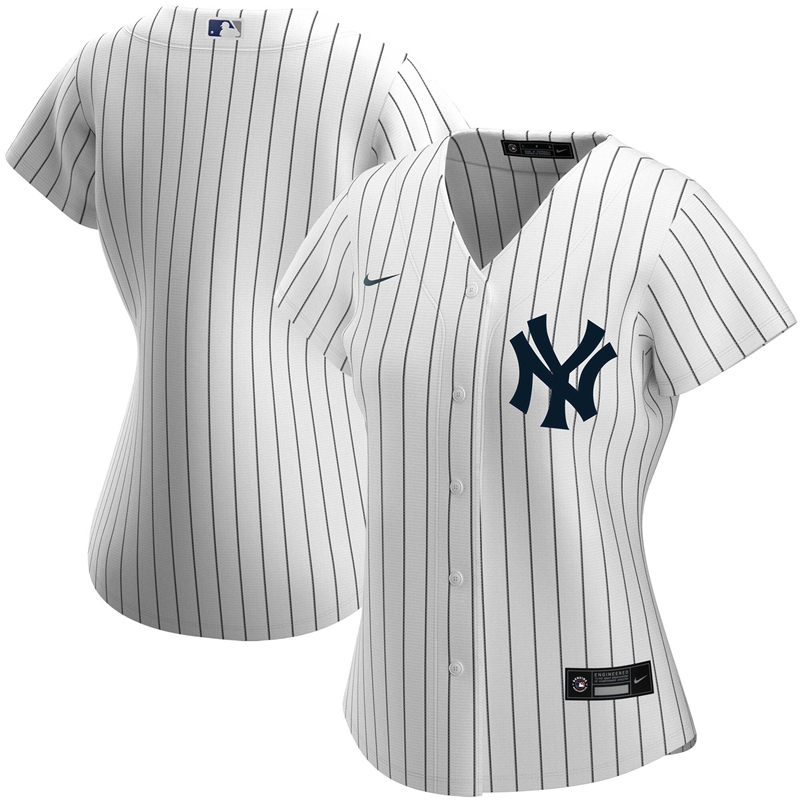2020 MLB Women New York Yankees Nike White Home 2020 Replica Team Jersey 1