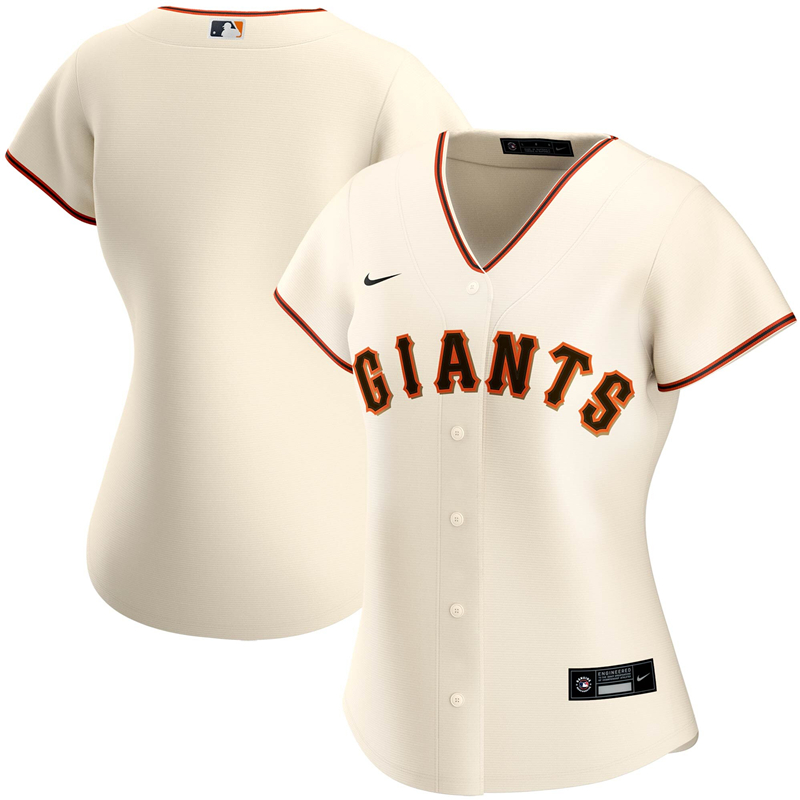 2020 MLB Women San Francisco Giants Nike Cream Home 2020 Replica Team Jersey 1