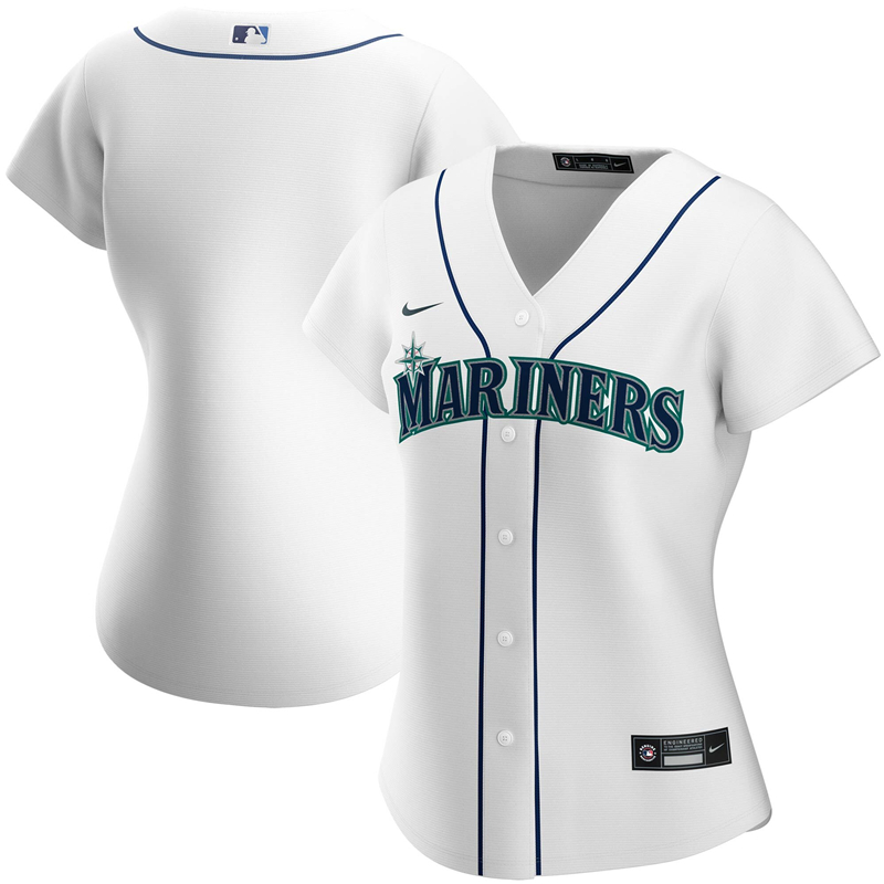 2020 MLB Women Seattle Mariners Nike White Home 2020 Replica Team Jersey 1