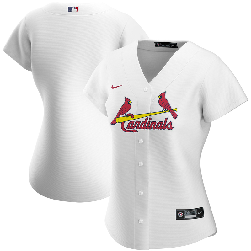 2020 MLB Women St. Louis Cardinals Nike White Home 2020 Replica Jersey 1