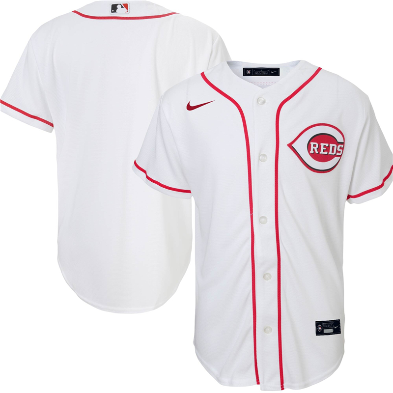 2020 MLB Youth Cincinnati Reds Nike White Home 2020 Replica Team Jersey 1