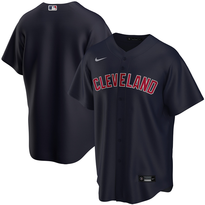 2020 MLB Youth Cleveland Indians Nike Navy Alternate 2020 Replica Team Jersey 1