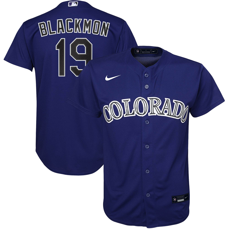 2020 MLB Youth Colorado Rockies Charlie Blackmon Nike Purple Alternate 2020 Replica Player Jersey 1