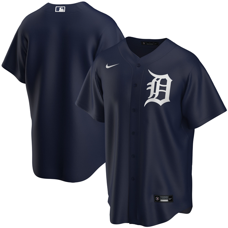 2020 MLB Youth Detroit Tigers Nike Navy Alternate 2020 Replica Team Jersey 1