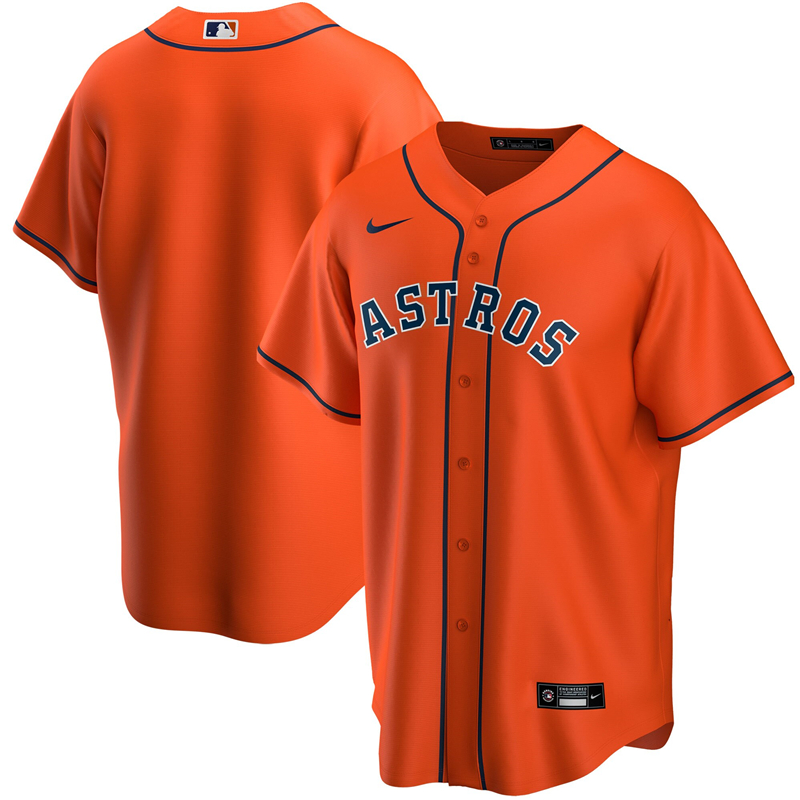 2020 MLB Youth Houston Astros Nike Orange Alternate 2020 Replica Team Jersey 1
