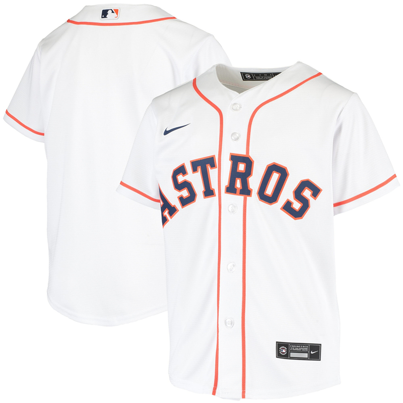 2020 MLB Youth Houston Astros Nike White Home 2020 Replica Team Jersey 1