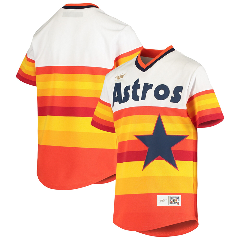 2020 MLB Youth Houston Astros Nike White Home Cooperstown Collection Team Jersey 1