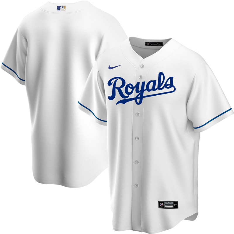 2020 MLB Youth Kansas City Royals Nike White Home 2020 Replica Team Jersey 1