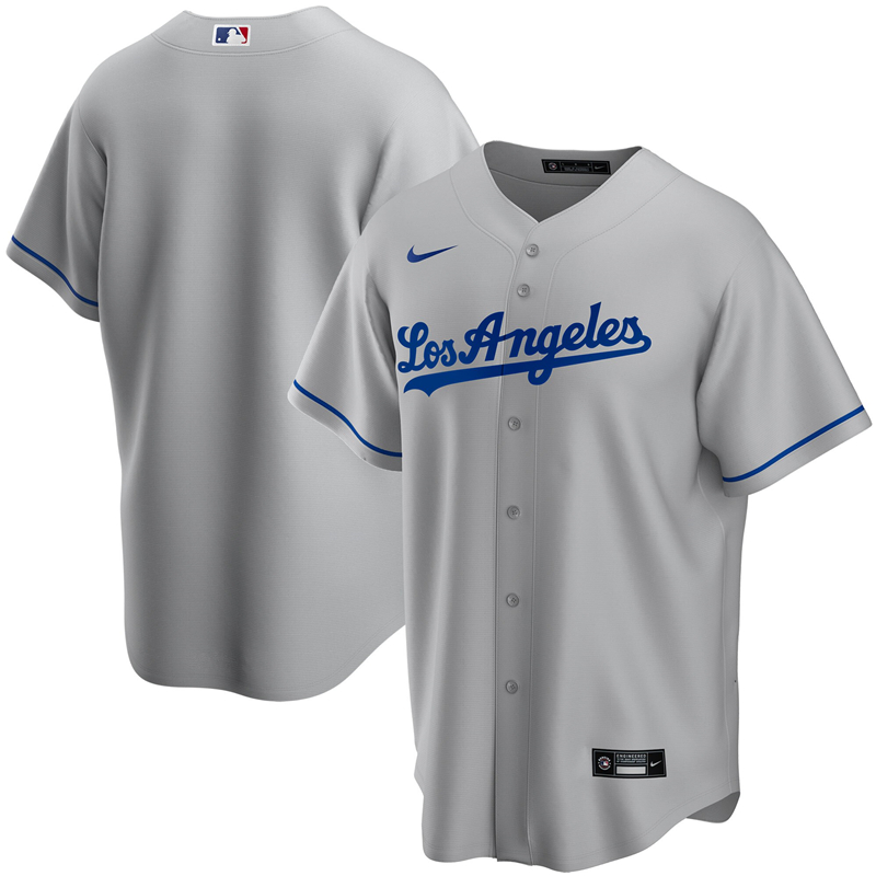 2020 MLB Youth Los Angeles Dodgers Nike Gray Road 2020 Replica Team Jersey 1