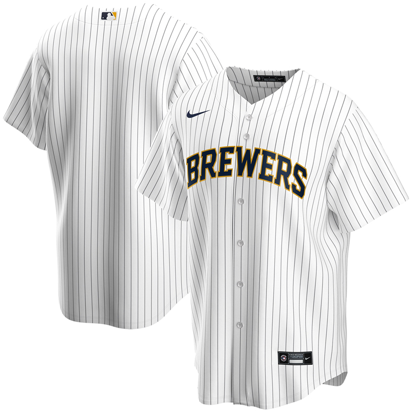 2020 MLB Youth Milwaukee Brewers Nike White Home 2020 Replica Team Jersey 1