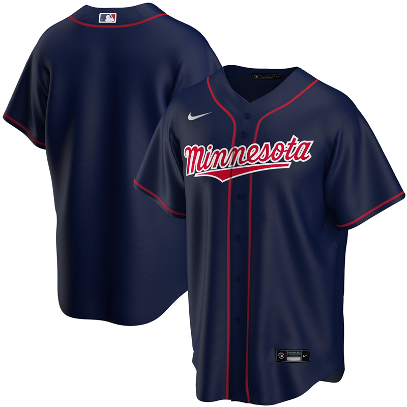 2020 MLB Youth Minnesota Twins Nike Navy Alternate 2020 Replica Team Jersey 1