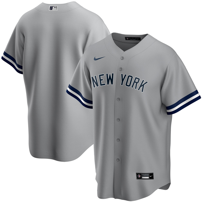 2020 MLB Youth New York Yankees Nike Gray Road 2020 Replica Team Jersey 1