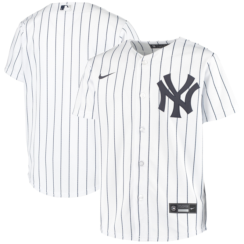 2020 MLB Youth New York Yankees Nike White Home 2020 Replica Team Jersey 1