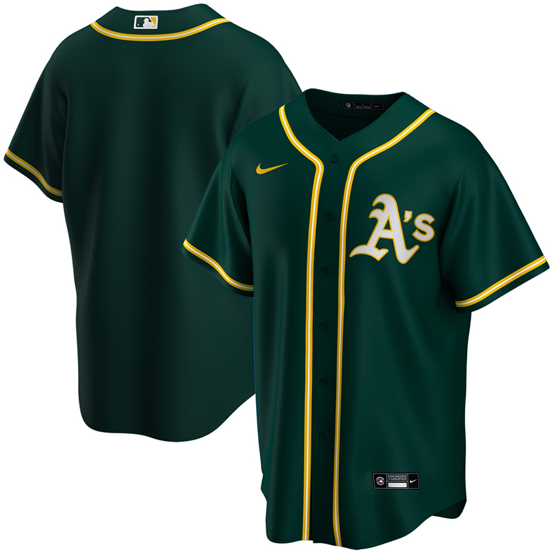 2020 MLB Youth Oakland Athletics Nike Green Alternate 2020 Replica Team Jersey 1