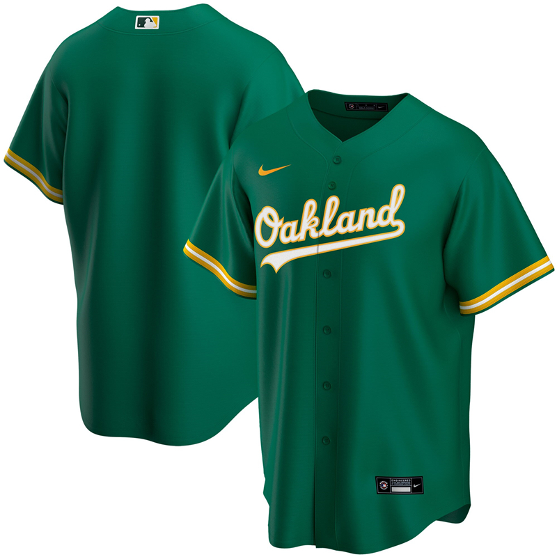 2020 MLB Youth Oakland Athletics Nike Kelly Green Alternate 2020 Replica Team Jersey 1
