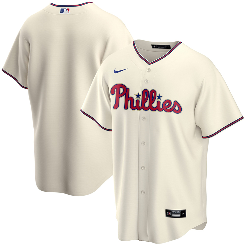 2020 MLB Youth Philadelphia Phillies Nike Cream Alternate 2020 Replica Team Jersey 1