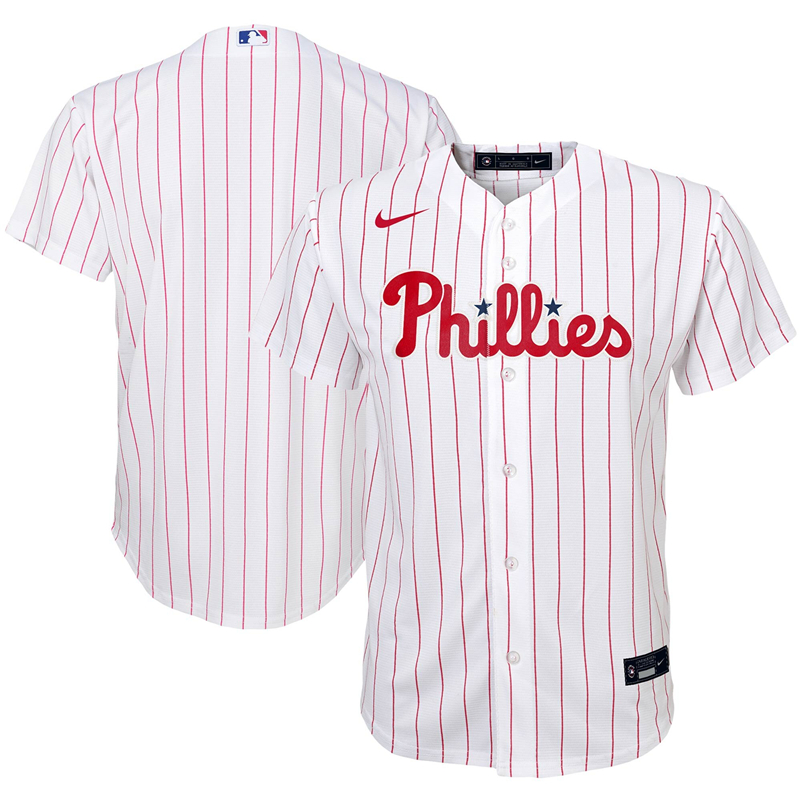 2020 MLB Youth Philadelphia Phillies Nike White Home 2020 Replica Team Jersey 1