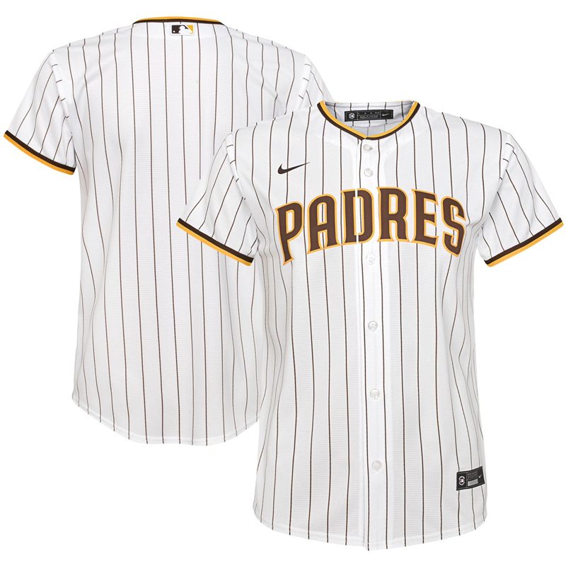 2020 MLB Youth San Diego Padres Nike White Home 2020 Replica Team Jersey 1