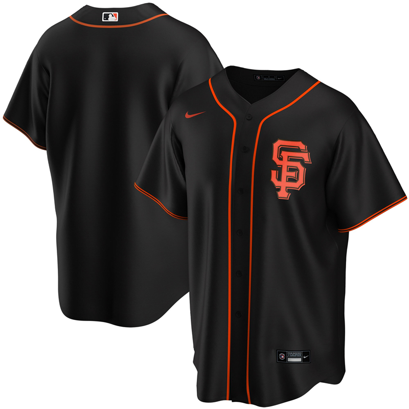 2020 MLB Youth San Francisco Giants Nike Black Alternate 2020 Replica Team Jersey 1