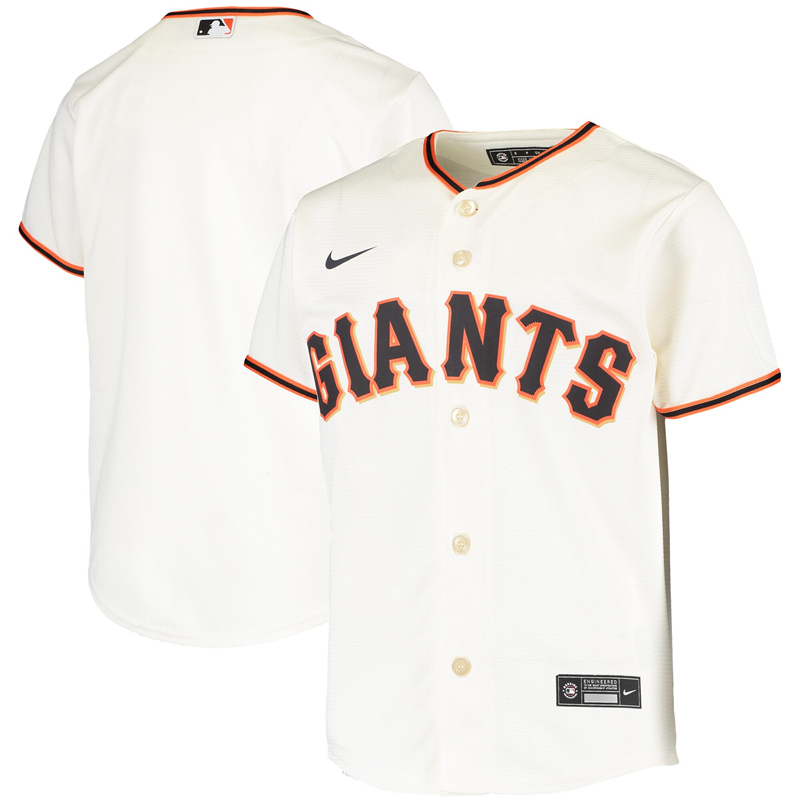 2020 MLB Youth San Francisco Giants Nike Cream Home 2020 Replica Team Jersey 1