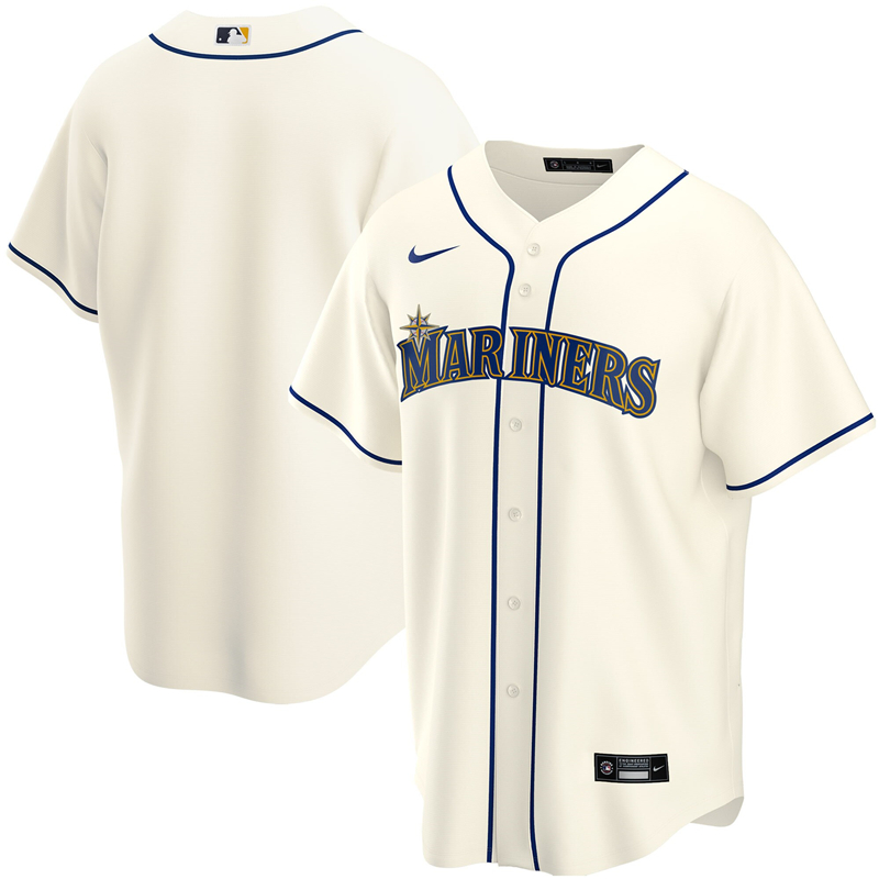 2020 MLB Youth Seattle Mariners Nike Cream Alternate 2020 Replica Team Jersey 1