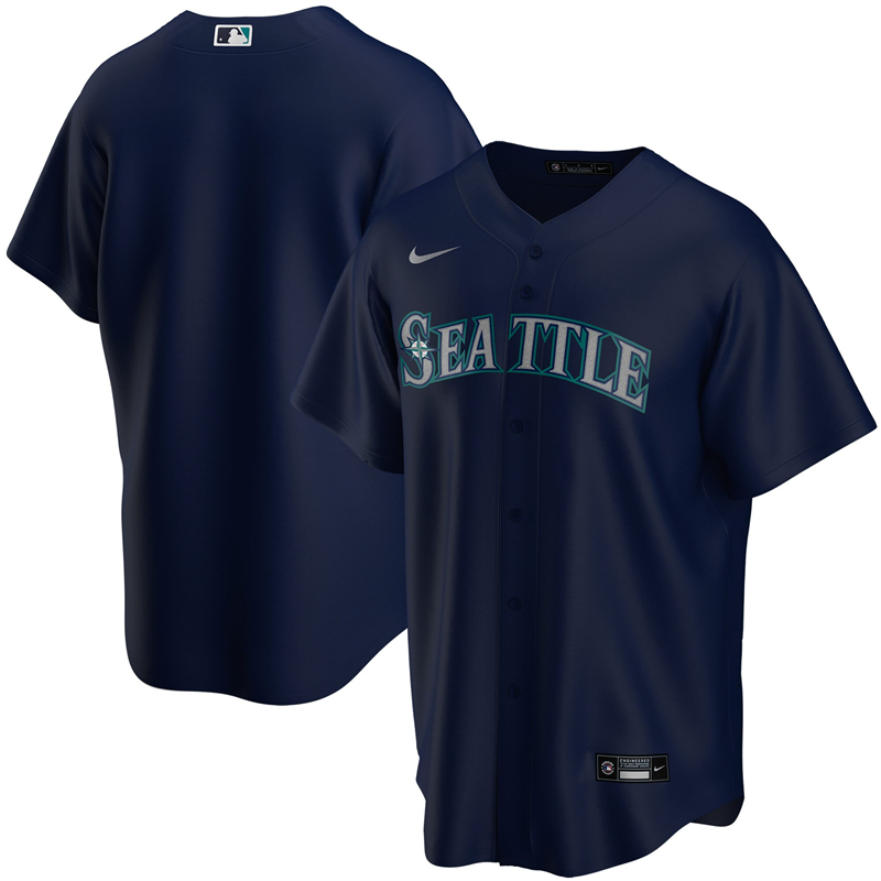 2020 MLB Youth Seattle Mariners Nike Navy Alternate 2020 Replica Team Jersey 1