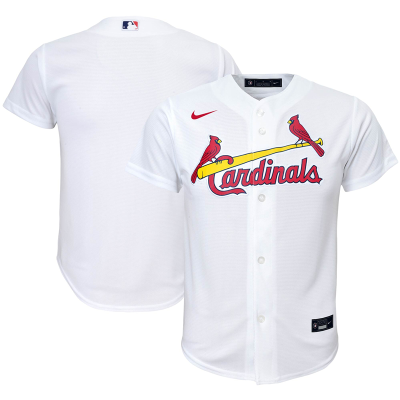 2020 MLB Youth St. Louis Cardinals Nike White Home 2020 Replica Team Jersey 1