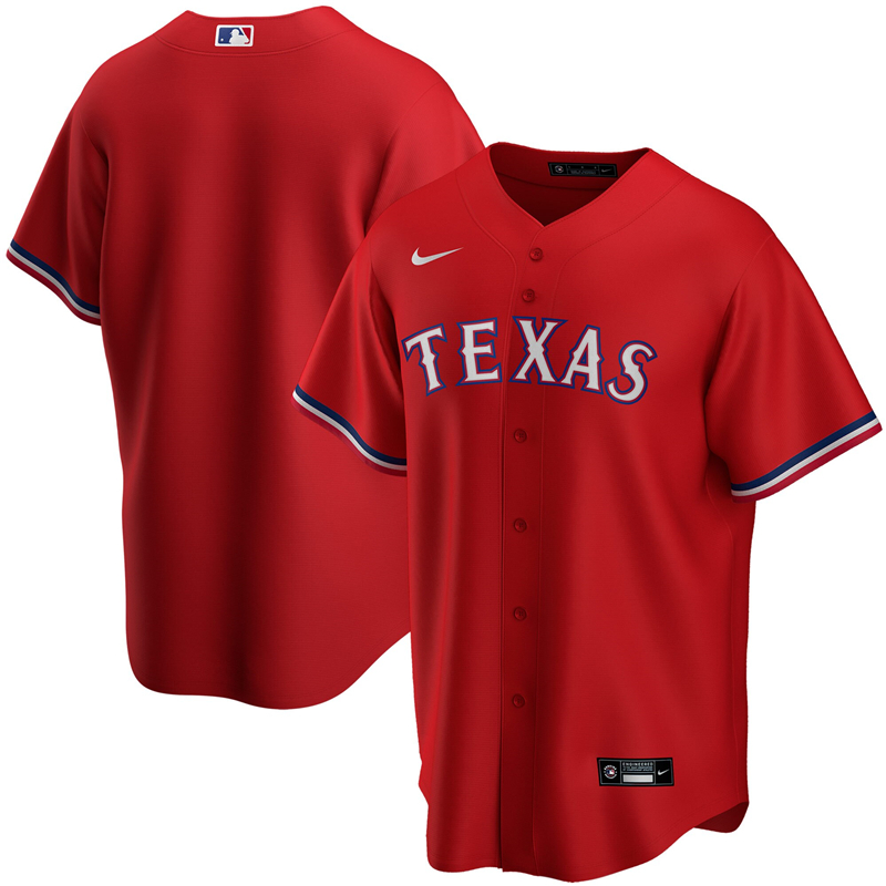 2020 MLB Youth Texas Rangers Nike Red Alternate 2020 Replica Team Jersey 1
