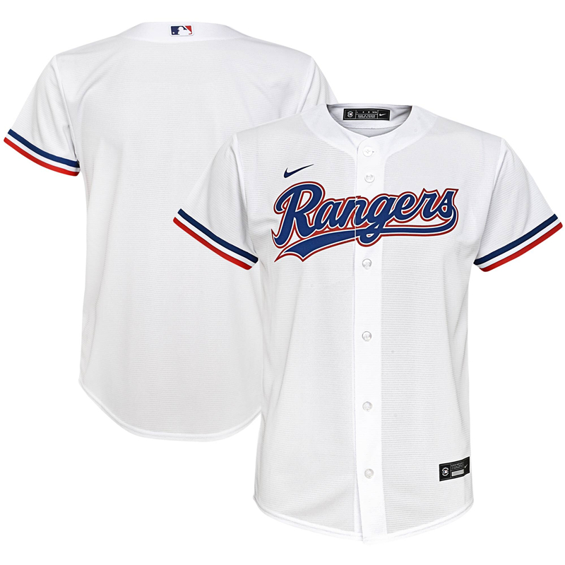 2020 MLB Youth Texas Rangers Nike White Home 2020 Replica Team Jersey 1