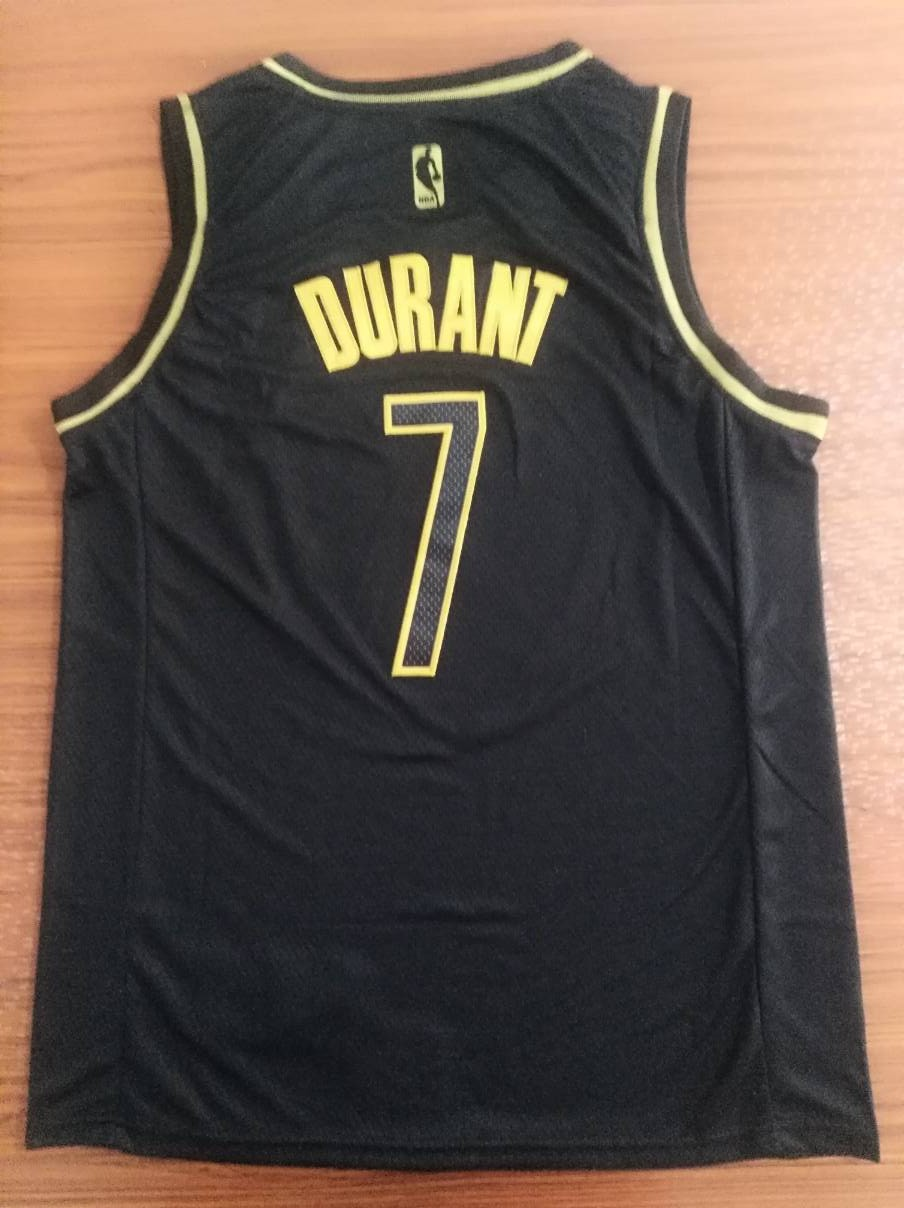 2020 Men Brooklyn Nets 7 Durant black golden Game Nike NBA Jerseys