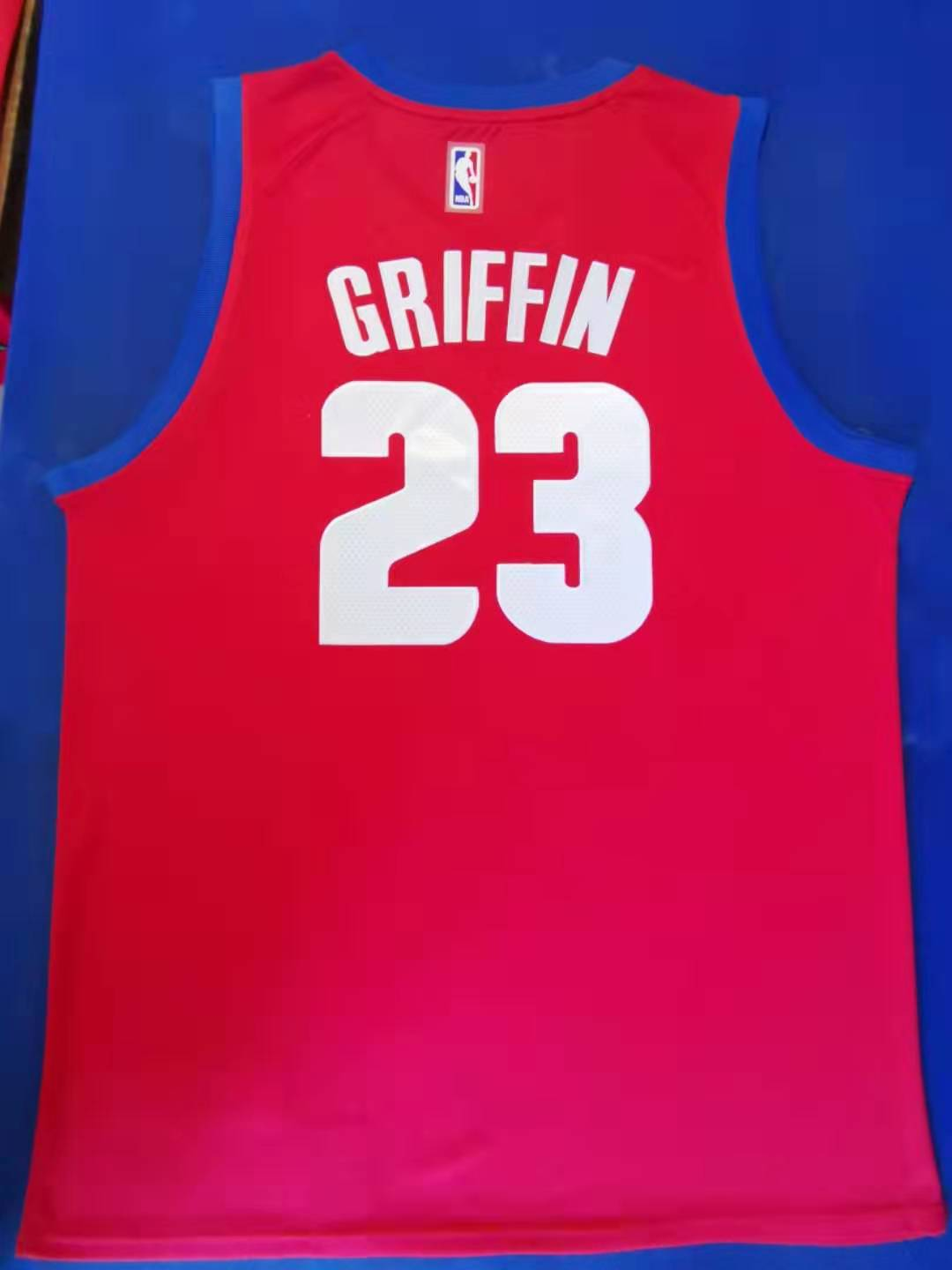 2020 Men Detroit Pistons 23 Griffin red Nike city edition Game NBA Jerseys