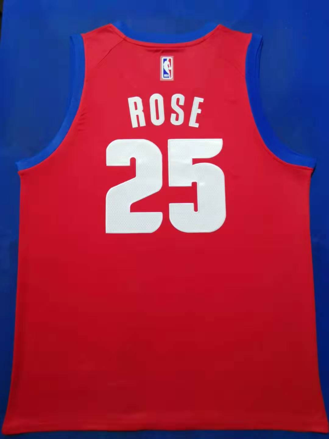 2020 Men Detroit Pistons 25 Rose red Nike city edition Game NBA Jerseys