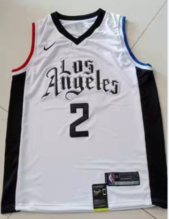 2020 Men Los Angeles Clippers 2 Leonard White Game Nike NBA Jerseys new style