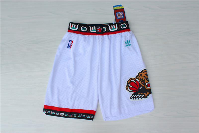 2020 Men Memphis Grizzlies white NBA shorts