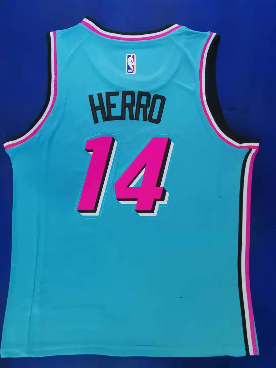2020 Men Miami Heat 14 Herro blue city edition limited NBA Nike Jerseys