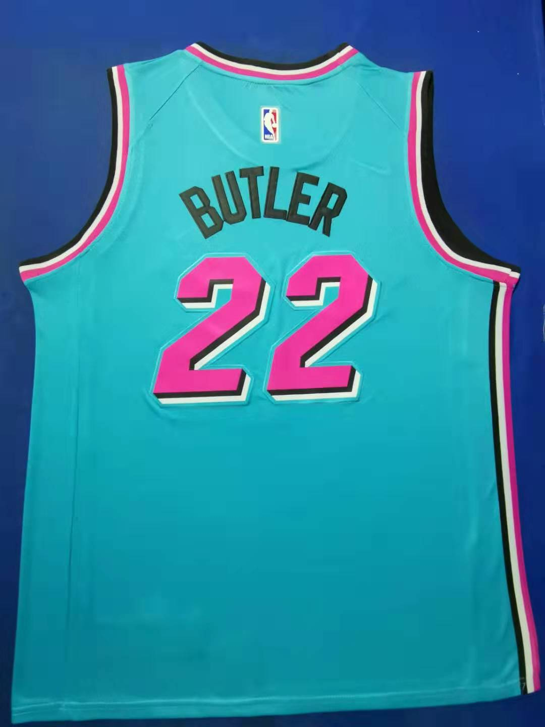 2020 Men Miami Heat 22 Butler blue City Edition Game Nike NBA Jerseys
