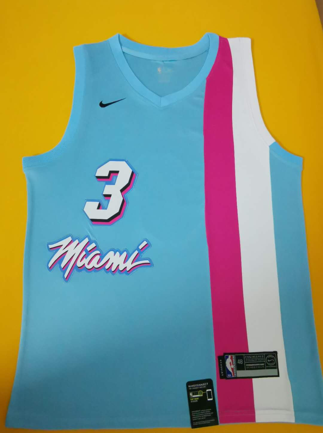 2020 Men Miami Heat 3 Wade Blue game NBA Nike Jerseys