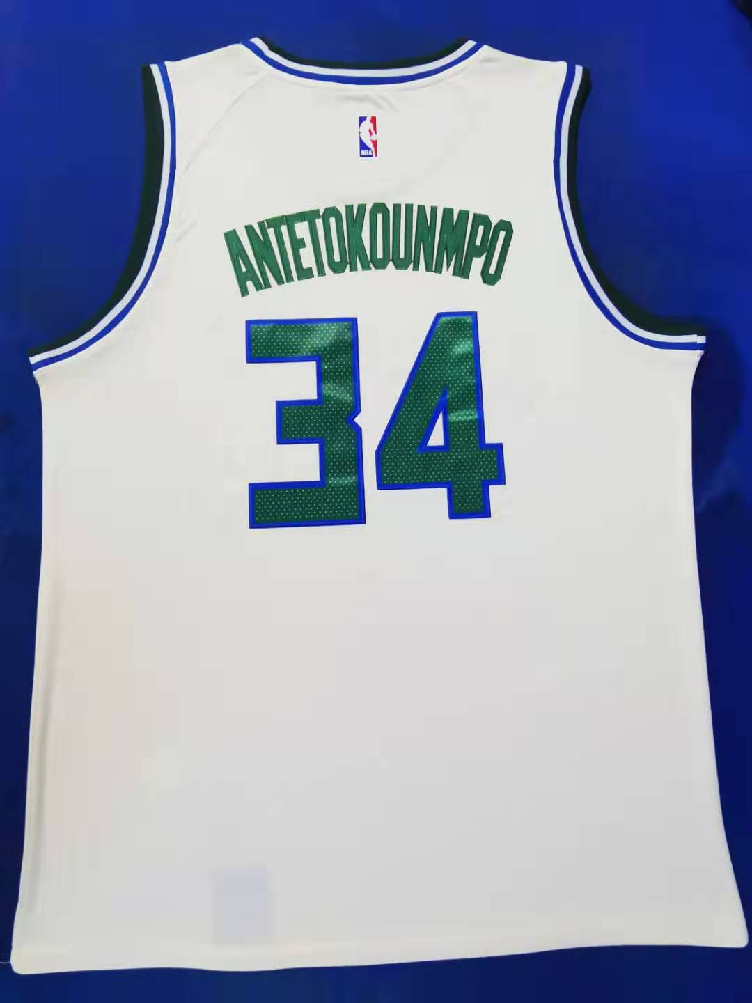 2020 Men Milwaukee Bucks 34 Antetokounmp white city edition NBA Nike Jerseys