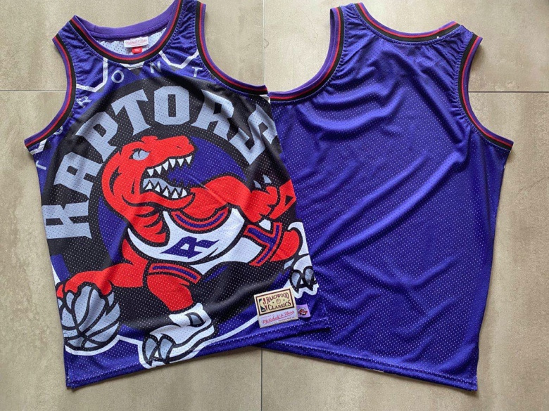 2020 Men NBA Nike Toronto Raptors mitchell ness big face blank blue jerseys