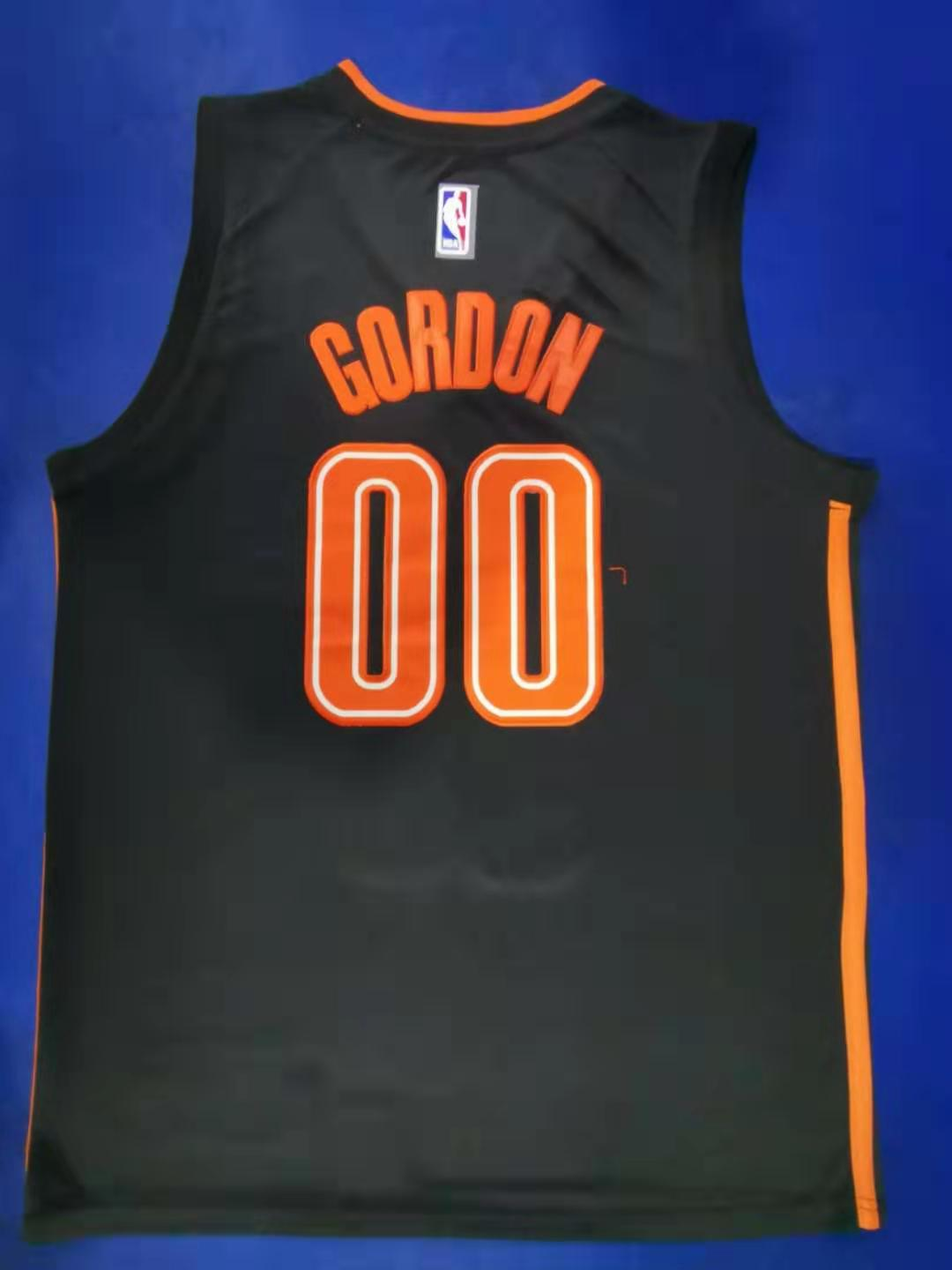 2020 Men Orlando Magic 00 Gordon black city edition limited Nike NBA Jerseys